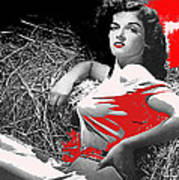 Film Homage Jane Russell The Outlaw 1943 Publicity Photo Photographer George Hurrell 2012 Art Print
