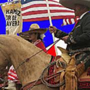 Film Homage Ride Vaquero 1953 1 Hispanic Riders Rodeo Parade Tucson Az 2002-2008 Art Print