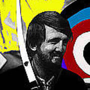 Film Homage The Archers Collage Tom Harmon Aberdeen South Dakota 1965-2008 Art Print
