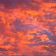 Film Noir Homage Leave Her To Heaven Number 1 Fiery Clouds Casa Grande Arizona 2005 Art Print