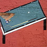 Film Noir Phil Carlson The Phenix City Story 1955 Bar Wall Pool Table Eloy Arizona 2005 Art Print