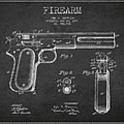 Firearm Patent Drawing From 1897 - Dark Print by Aged Pixel