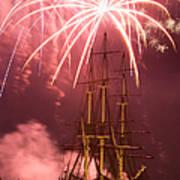 Fireworks Exploding Over Salem's Friendship Art Print