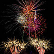 Fireworks  Art Print by Saija  Lehtonen