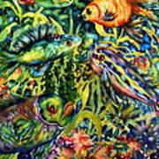Fish Tales IIi Art Print by Ann  Nicholson