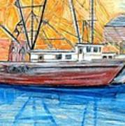 Fishing Trawler Art Print