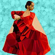 Flamenco Dancer In Spain Art Print