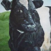Flirtatious Cow Art Print