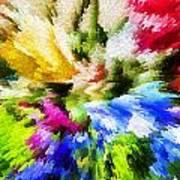 Floral Art X Art Print