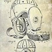 1927 Football Helmet Patent Art Print