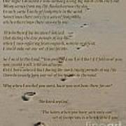 Footprints In The Sand Poem Art Print