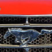 Ford Mustang Badge Art Print
