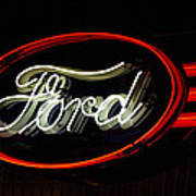 Ford Neon Sign Art Print