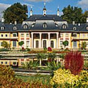Formal Garden In Front Of A Castle Art Print