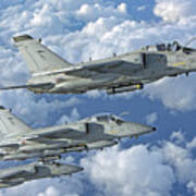 Formation Of Italian Air Force Amx-acol Art Print