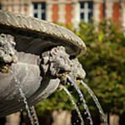 Fountain - Place Des Vosges Art Print