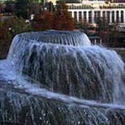 Fountain At Finlay Park Art Print