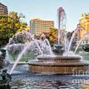 Fountain In The Pink Art Print