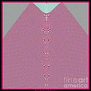 Fractal 28 Pink Gingham Shirt Art Print