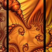 Fractal Triptychon Art Print