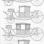 France Carriages, C1740 Art Print