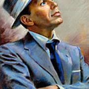 Frank Sinatra  Art Print by Ylli Haruni