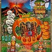 Freaky Tiki Tombs Art Print