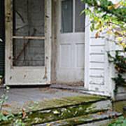 Front Door Of Abandoned House Art Print