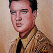 G I Elvis  Art Print
