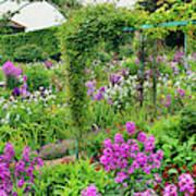 Garden Of Claude Monets House, Giverny Art Print