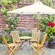 Garden Seating Area Art Print