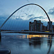 Gateshead Millennium Bridge Art Print