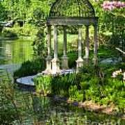 Gazebo By Lake Art Print