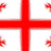 Georgian Flag Art Print