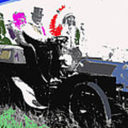 Geronimo At The Wheel 1904 Locomobile Model C Touring Car On The 101 Ranch In Oklahoma 1905 Art Print