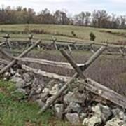 Gettysburg Fence Row 3 Art Print