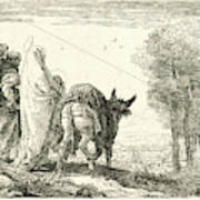 Giovanni Domenico Tiepolo Italian, 1727 - 1804. The Flight Art Print