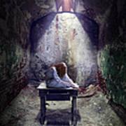 Girl In Abandoned Room Art Print
