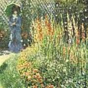 Gladioli Art Print by Claude Monet