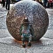 Gnome Statue Wroclaw Poland Art Print