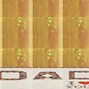Gold Embossed Foil Art For Dad  Digital Graphic Signature   Art  Navinjoshi  Artist Created Images T Art Print