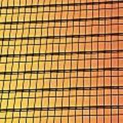 Golden Glass Wall Background  Art Print