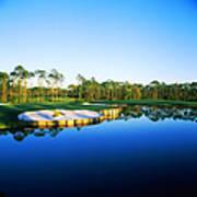 Golf Course At The Lakeside, Regatta Art Print