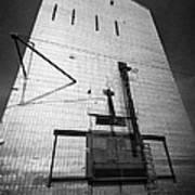 grain elevator doors and filling pipe leader Saskatchewan Canada Art Print