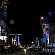 Granville Street At Night Vancouver Art Print
