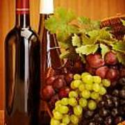 Grape Wine Still Life Art Print by Anna Om