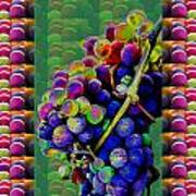 Grapes Fruit Pattern Health Background Designs  And Color Tones N Color Shades Available For Downloa Art Print