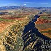 Great Canyon River Gor In Spain Art Print