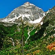 Great Glacier Trail In Glacier Np-british Columbia Art Print