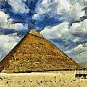 Great Pyramid Of Egypt Art Print